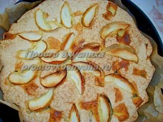 Вкусный, простой пирог с яблоками