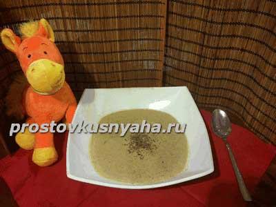 Рецепт крем-супа из шампиньонов