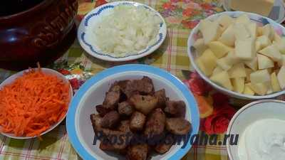 Жаркое из свинины в духовке