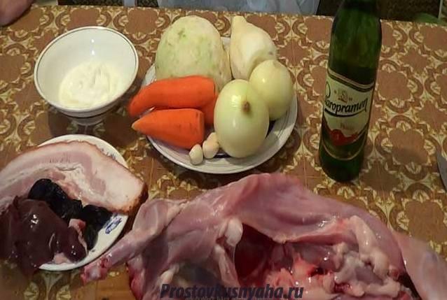 Продукты для блюда из кролика
